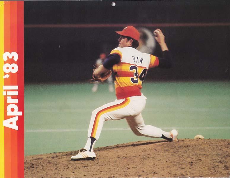 Nolan Ryan 1983 Astros Calendar